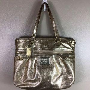 Coach Foiled Gold Handbag